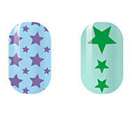Purple/Green Star Hollow Nail Stickers