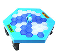 Break the Ice Puzzle Desktop Game Penguin Knock Ice Building Blocks Interaction Toys White Blue