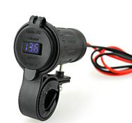 iztor водонепроницаемый 4.2a зажигалка двойной USB автомобильное зарядное устройство телефона и 12v синий вольтметр с 60см проволоки