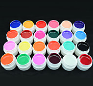 20202 GDCOCO Wholesale 24 Colors 5ml Color Paint UV Gel Nail Polish Gel For Nail Art