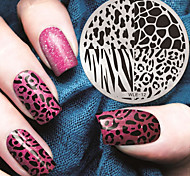 2016 Latest Version Fashion Pattern Leopard Print Nail Art Stamping Image Template Plates