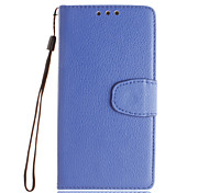 For Sony Case / Xperia X / Xperia XA / Xperia Z5 Wallet / Card Holder / with Stand / Flip Case Full Body Case Solid Color Hard PU Leather