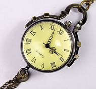 Unisex Pocket Watch New Features Personality Glass Ball Round Bronze Pocket Watch Roman Scale Cool Watches Unique Watches