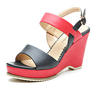 Aokang® Women's Wedge Heel Sandals(black and red)