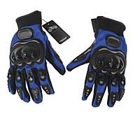 Guantes de moto Dedos completos Nailon M Azul