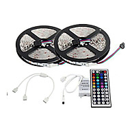 2 × 5m 300x3528 RGB LED SMD LED strip e telecomando 44key and1bin2 linea di collegamento (DC12V)