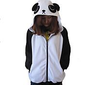 Unisex Polar Fleece Black and White Panda Kigurumi Hoddie
