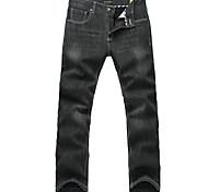 Lesmart Hommes Jeans / Droite Pantalon Noir - MDMK3251