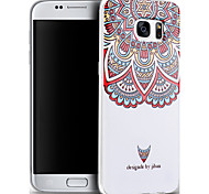 Relief Graphic Pattern Fashion Silicone Material Back Cover for Galaxy S7