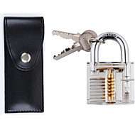 Crystal Professional Visible Cutaway of Padlocks Lock for Locksmith Lock Training Trainer with Leather Case 12pcs Tool