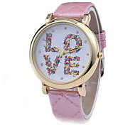 Women's Fashionable  Leisure Laser Printing Quartz Watch Leather Band Cool Watches Unique Watches
