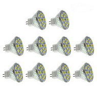 6W GU4(MR11) Spot LED 12 SMD 5730 570 lm Blanc Chaud / Blanc Naturel DC 12 V 10 pièces