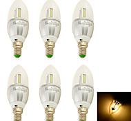 YouOKLight® 6PCS E14 3W 250lm 32 x SMD 3014  Warm White 3000K  LED Candle Lamp - (AC 100-240V/110-130V/220-240V/85~265V)