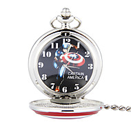 Unisex Pocket Watch Captain America Pointed Star European Style Flip Pocket Watch Cool Watches Unique Watches
