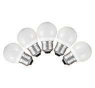 3W E26/E27 Bombillas LED de Globo G60 5 SMD 3528 200 lm Blanco Cálido Blanco Fresco AC 100-240 V 5 piezas