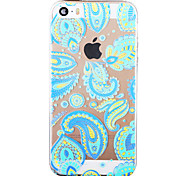 """Violet Painted Pattern Soft Transparent TPU Back Case For Iphone5/5S 4.0"""""""