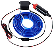 exled 12v 5W atmosfera conduziu a luz / lâmpada decorativa de carro com luz azul