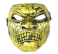 Halloween Protective Anger Face Mask Black Golden