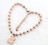 Bear Tag Beads Charm Bracelets