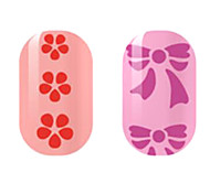 Red/Purple Hollow Nail Stickers