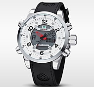 WEIDE® Brand New Men Waterproof Army Sports Quartz LCD Digital Rubber Strap Watch Cool Watch Unique Watch
