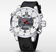 WEIDE Herren Armbanduhr Digitaluhr Quartz digital Japanischer Quartz LCD Kalender Chronograph Wasserdicht Duale Zeitzonen Alarm Caucho