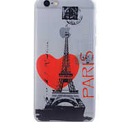 For iPhone 6 Case / iPhone 6 Plus Case Glow in the Dark / Translucent / Pattern Case Back Cover Case Eiffel Tower Soft TPU for iPhone 6s
