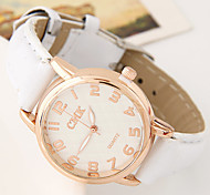 Women's European Style Fashion Simple Leather Casual Wrist watch