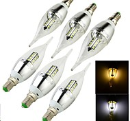 YouOKLight® 6PCS E14 3W 250lm  16 x SMD2835 Warm White/Cold White  LED Candle Lamp (100-240V/110-130V/220-240V/85-265V)