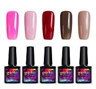Modelones 5Pcs Beauty Gelpolish 10ml UV Gel Nail Polish Soak Off Color Gel C110