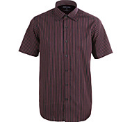 JamesEarl Men's Shirt Collar Short Sleeve Shirt & Blouse Burgundy - M21X5000801