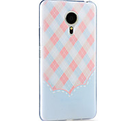 For Meizu Case Pattern Case Back Cover Case Geometric Pattern Hard TPU Meizu