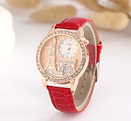 Women's European Style Hot New Rhinestones Eiffel Tower Arc de Triomphe Watch Cool Watches Unique Watches