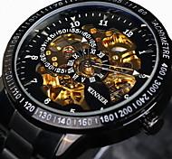WINNER Мужской Часы со скелетом Наручные часы Механические часы Защита от влаги С гравировкой тахометр Светящийся С автоподзаводом