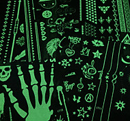 Glow in the Dark PVC Fluorescent Tattoo Body Painting Stencils