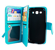 Luxury Phone Case 9 Card slot Leather Wallet Case Flip Cover For Samsung Galaxy Core Prime/Grand Prime (Assorted Colors)
