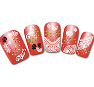 Snowflake/Leopard/Lace White/Black Lovely 3D Nail Sticker