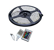 YouOkLight® 5M 300-3528 SMD RGB LED Strip Light with 24Key Remote Controller (DC12V /5M)
