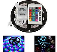 ZDM ™ 5m 300x2835 waterdichte smd rgb led strip licht IP65 met 24key afstandsbediening (12V)