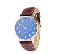 Men's Business Glass Leather Strap Watch Cool Watch Unique Watch