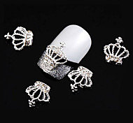 Lovely Mental Imperial Crown Nail Jewelry