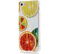 Luxury Brushed TPU Orange Pattern Phone Shell Drop Resistance for iPhone SE/5/5S