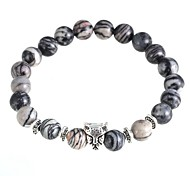 New Arrival 3 Colors Nature Stone Leopard Bracelet Strand Bracelets Daily / Casual 1pc Christmas Gifts