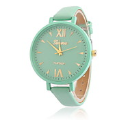 Women's Casual Fashion Quartz Watch  Roman Scale Thin Leather Band