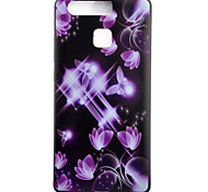 TPU Material Butterfly Black Slim Painted Soft cellphone Case for Huawei Ascend P9/P9 Lite