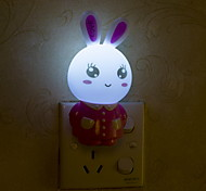 Creative Changeable Color  Rabbit Shape Light Sensor Night Light