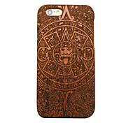 pêra madeira misterioso totem carving caso do iphone duro tampa traseira de proteção para iphone se 5s / iphone / iphone 5