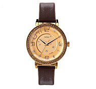 Julius Watch Korea Fashion Big Dial Women Watch Waterproof Leather Belt Vintage Design JA-807