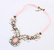 Women's Pendant Necklaces Crystal Alloy Luxury Jewelry Pink Jewelry Wedding Party Daily Casual 1pc