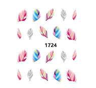 2 Sheet Fashion Leopard Nail Decals Water Transfer Stickers Nail Art Tips Feather Wraps DIY Decorations Nail Art Tools
